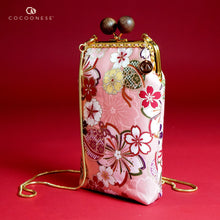 Load image into Gallery viewer, Cell Phone Purse - Sakura Forest (Pink)