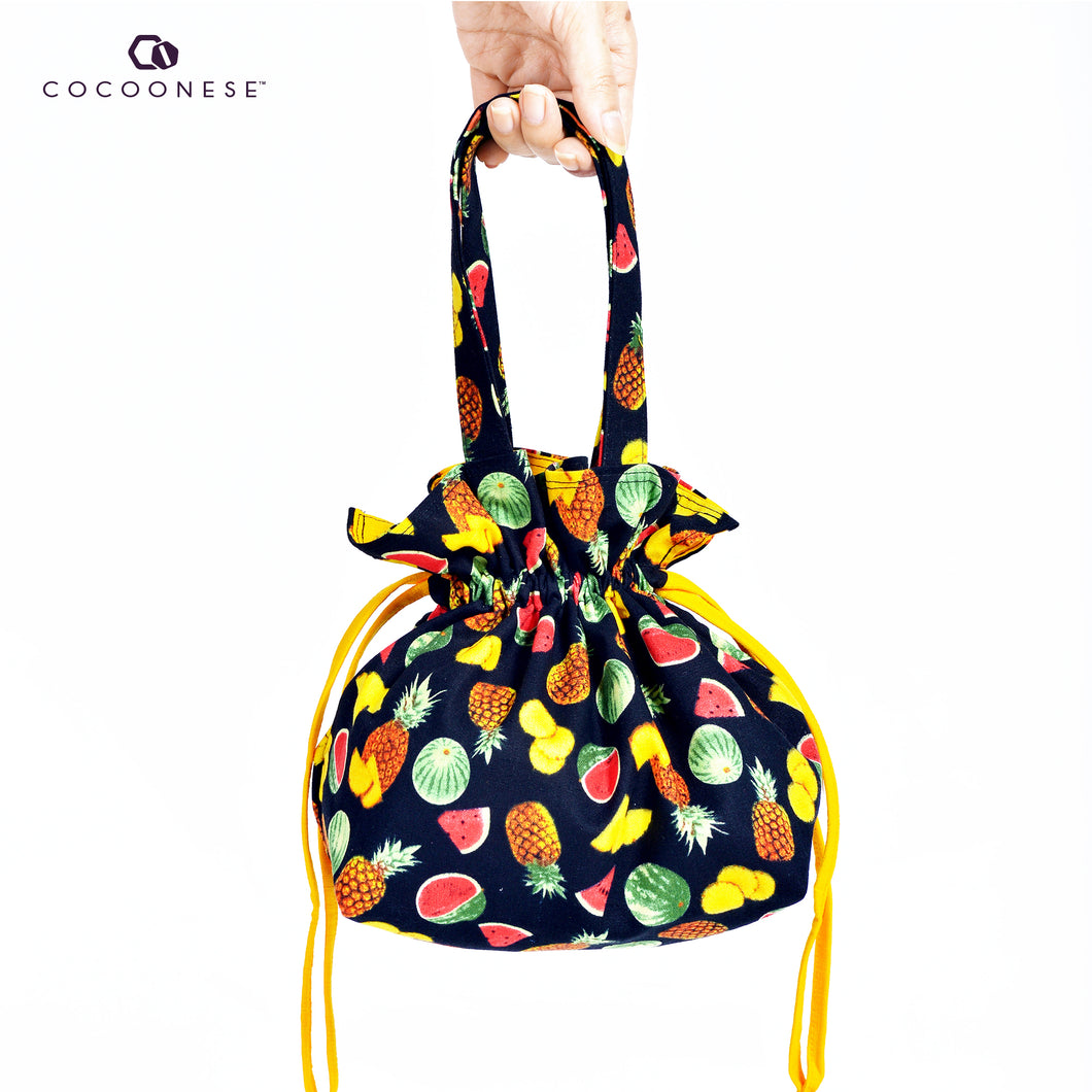 Drawstring Top Handle Handbag  - Fruit Punch