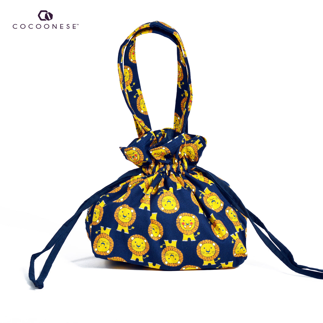 Drawstring Top Handle Handbag  - Lion King