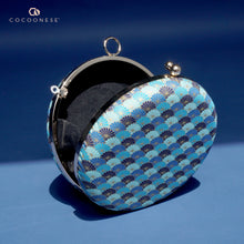 Load image into Gallery viewer, Round Hard Case Clutch Bag - Kikkamon (Blue)