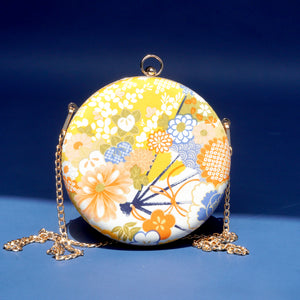 Round Hard Case Clutch Bag - Hanamonogatari