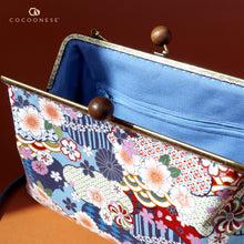 Load image into Gallery viewer, Clasp Sling Bag - Natsume (Blue)