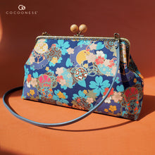 Load image into Gallery viewer, Clasp Sling Bag - Sakura Clouds (Blue)