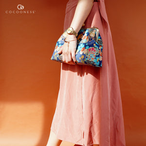 Clasp Sling Bag - Sakura Clouds (Blue)