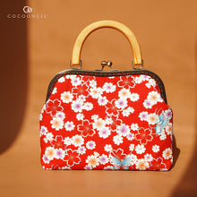 Load image into Gallery viewer, 30% OFF - Kiss Clasp Handbag with Wooden Handle - Butterfly