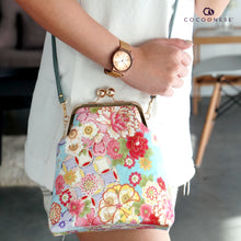 Load image into Gallery viewer, Trapezoid Crossbody Bag - Peonies