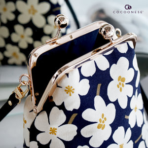 Trapezoid Crossbody Bag - White Rain Lily