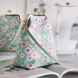 Trapezoid Crossbody Bag - Butterfly