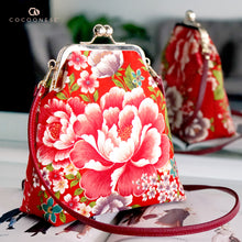 Load image into Gallery viewer, Trapezoid Crossbody Bag - Herbaceous Peony