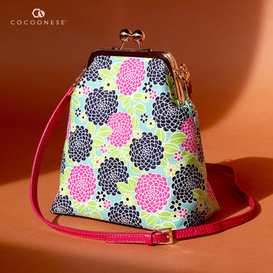 Trapezoid Crossbody Bag - Fragrant Garden