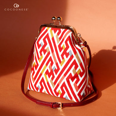Trapezoid Crossbody Bag - Matrix Wall (Red)
