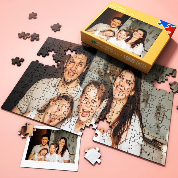 Custom Photo on Jigsaw Puzzle The Best Gift For Family Free Package