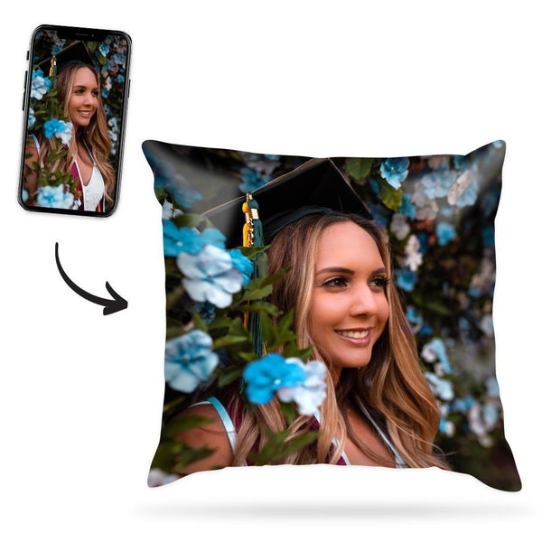 Custom Your Graduation Photo Throw Pillow Case Memory