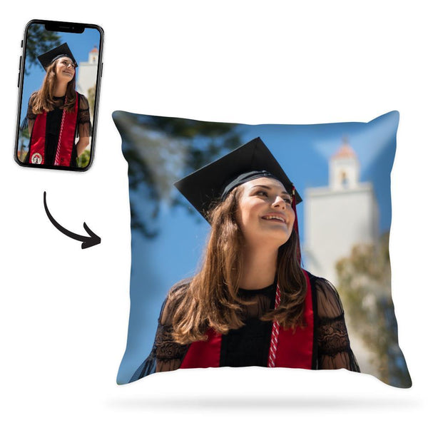 Custom Graduation Photo Throw Pillow Case