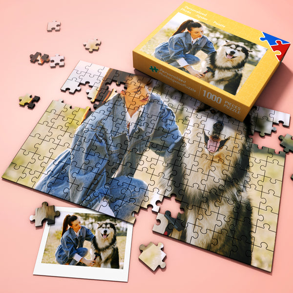 Custom Pet Photo Jigsaw Puzzles 35-1000 pieces, Free Package