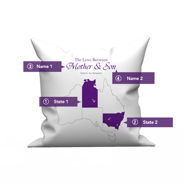 Custom The Love pillow case  with The Australia's Map- Love Knows No Distance