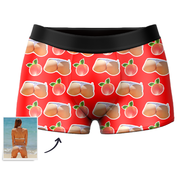 Men's Custom Booty Boxer Shorts, underpants,BriefsĻMyfaceboxer