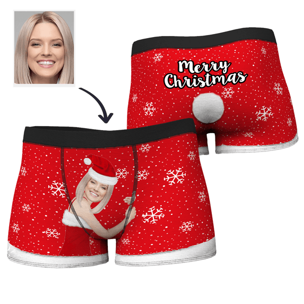 Men's Christmas Face on Body Boxers