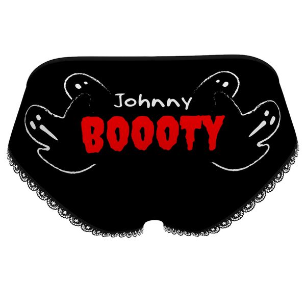 Halloween Women's Custom Name On Booty Panties