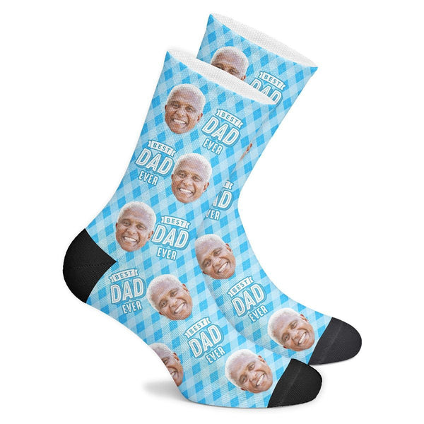 Custom Best Dad Ever Socks - Myfaceboxer