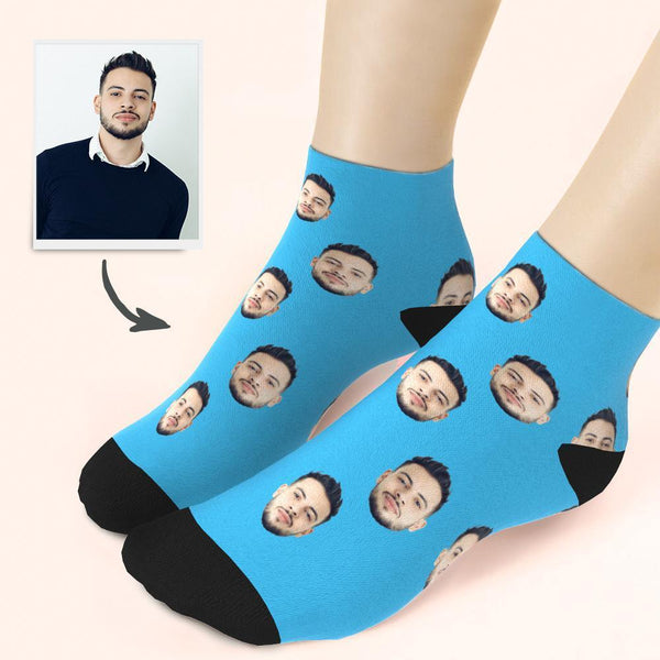 Custom Face On Quarter Length Socks
