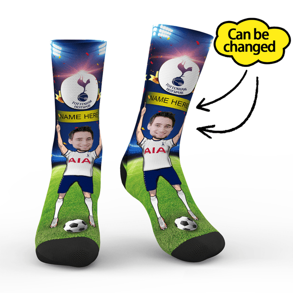 Tottenham Hotspur FC Personalized Face/Name Socks