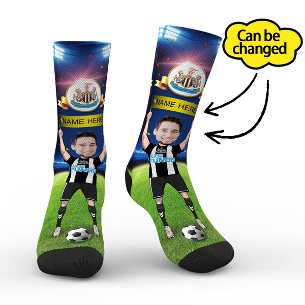 Newcastle United FC Personalized Face/Name Socks