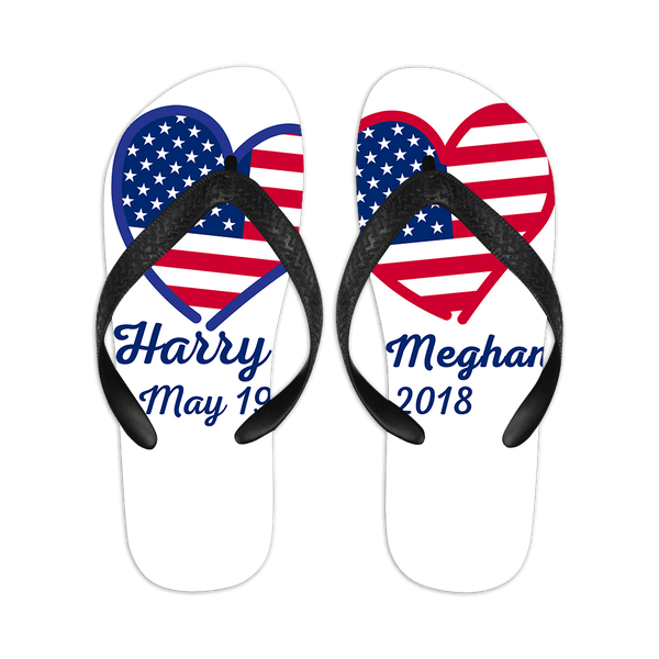 Personalized Flip-flops With Customizable Name and Date