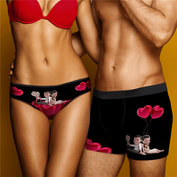Couple Underpants Set Romantic Custome Face On Underwears