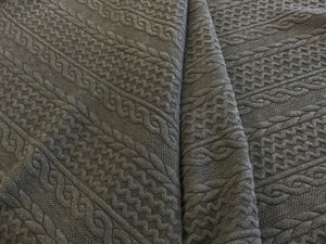 Dark Grey Textured Faux Cable Knit 93% Polyester 5% Rayon 2% Spandex