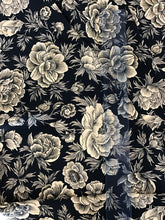 Load image into Gallery viewer, Midnight Navy Floral 100%Rayon