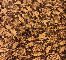 Load image into Gallery viewer, Orange Snake Print Wool