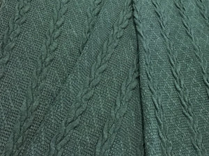 Dark Green Sweater Knit 70% Rayon 30% Acrylic
