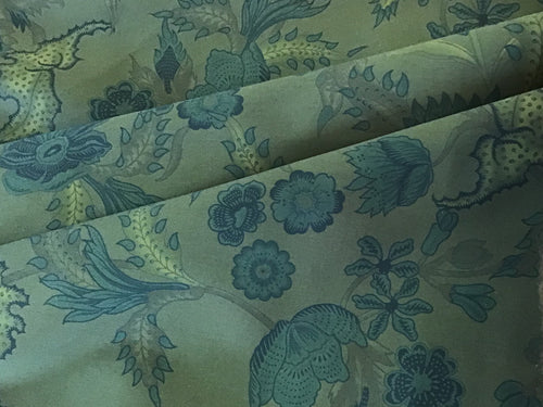 Gucci Blue & Green Floral Print 100% Cotton
