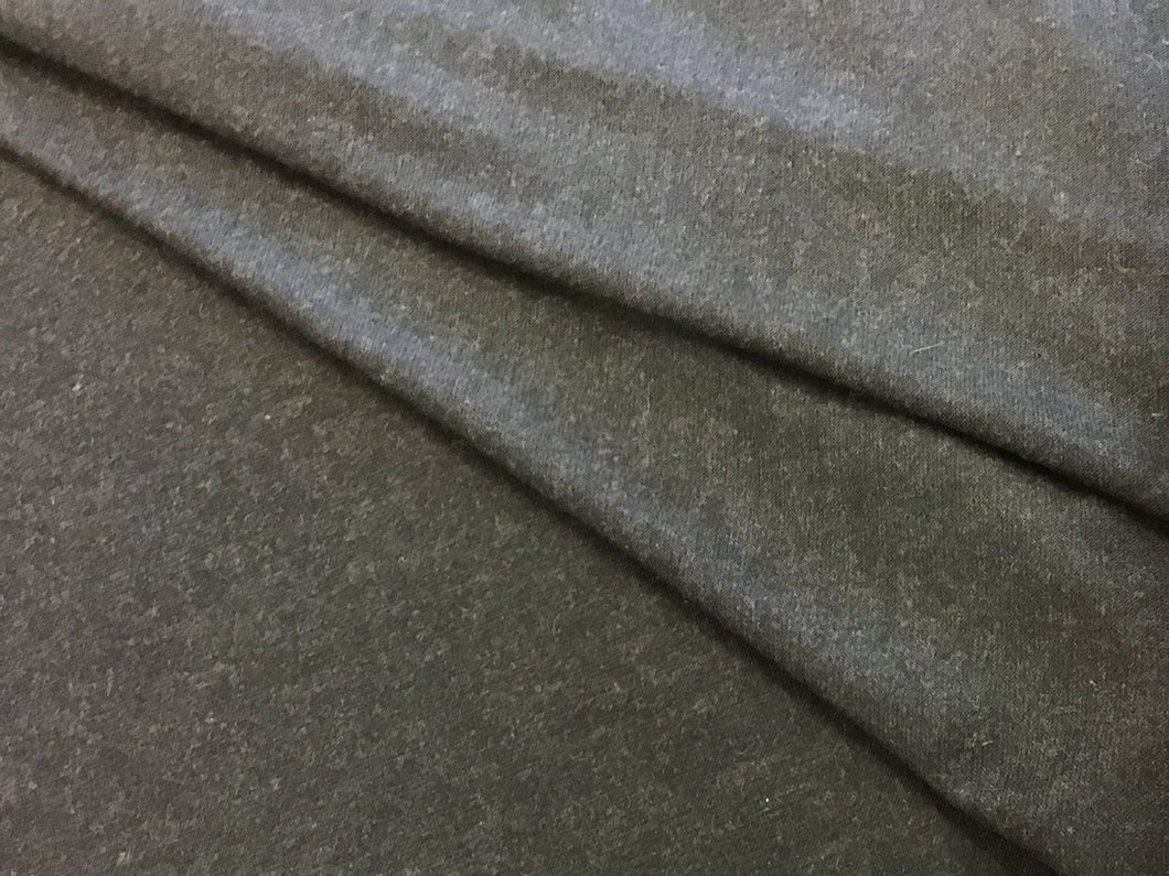 Charcoal 100% Cashmere Knit.     1/4 meter price