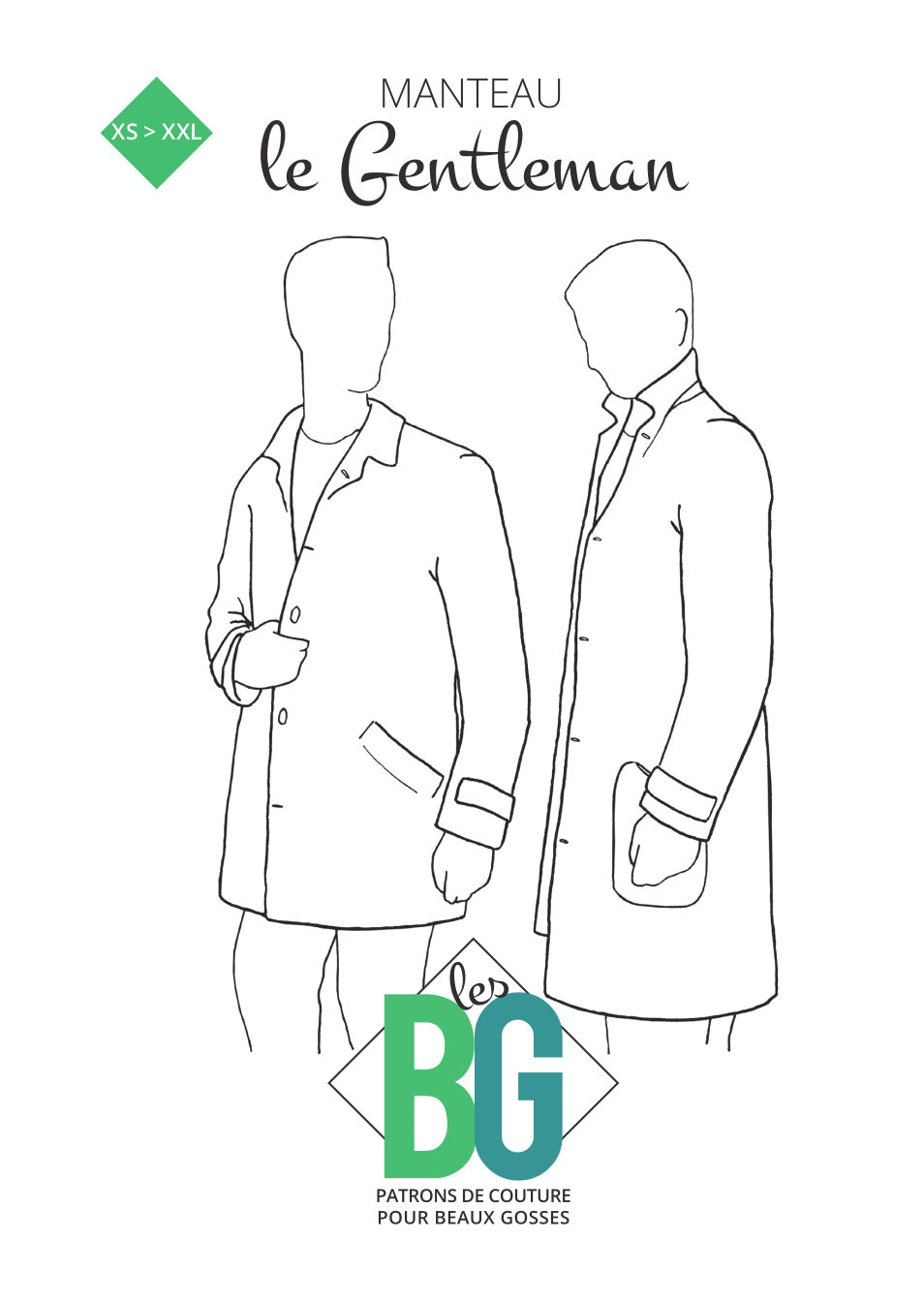 BG Sewing Patterns - The Gentleman Coat *** French Version ***