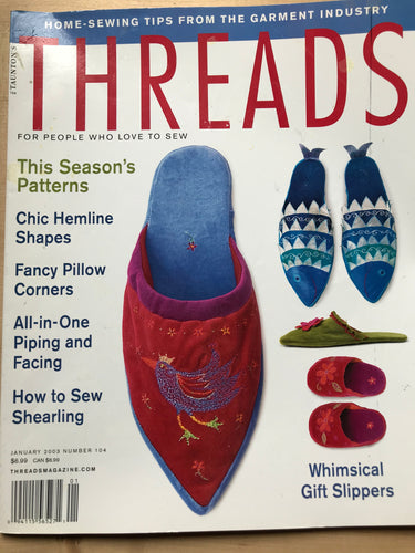 Threads Magazine Issue #104.  January 2003