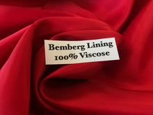 Load image into Gallery viewer, Poppy Red Bemberg Lining     1/4 meter price