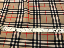 Load image into Gallery viewer, Designer Plaid 100% Silk Crepe de Chine.      1/4 Meter Price