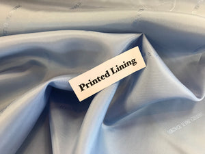 Light Blue Italian Designer 100% Viscose Lining     1/4 Meter Price