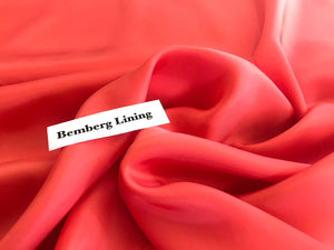 Light Salmon Bemberg Lining.      1/4 Meter Price