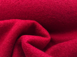 Red Boiled 100% Wool     1/4 Meter Price