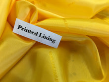 Load image into Gallery viewer, Yellow Italian Designer 100% Viscose Lining.    1/4 Meter Price