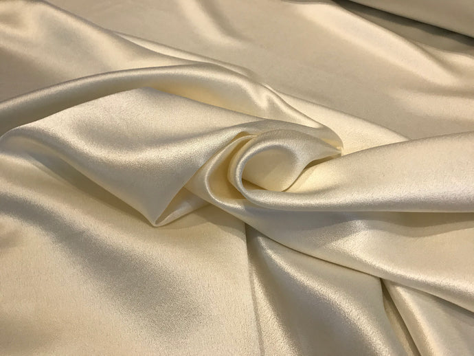 Ivory 100%Silk Satin Backed Crepe      1/4 Meter Price