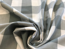 Load image into Gallery viewer, Large Grey & White Gingham 100% Cotton