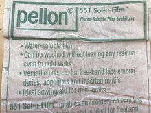 Load image into Gallery viewer, Pellon SOL-U-FILM Water Soluble Stabilizer