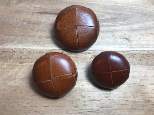 Light Brown Woven Leather Buttons