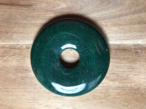 "Green Rondelle 2 1/8"" x 1/4"" & 1/2"" Hole   Button Price"