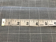 Load image into Gallery viewer, Black & White Plaid Stretch Wool     1/4 meter price