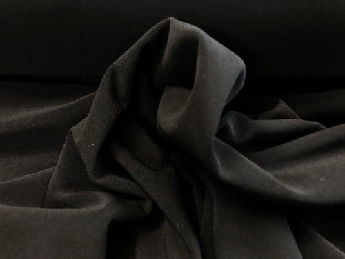 Black ITY 95% Polyester 5% Spandex Knit    1/4 Meter price